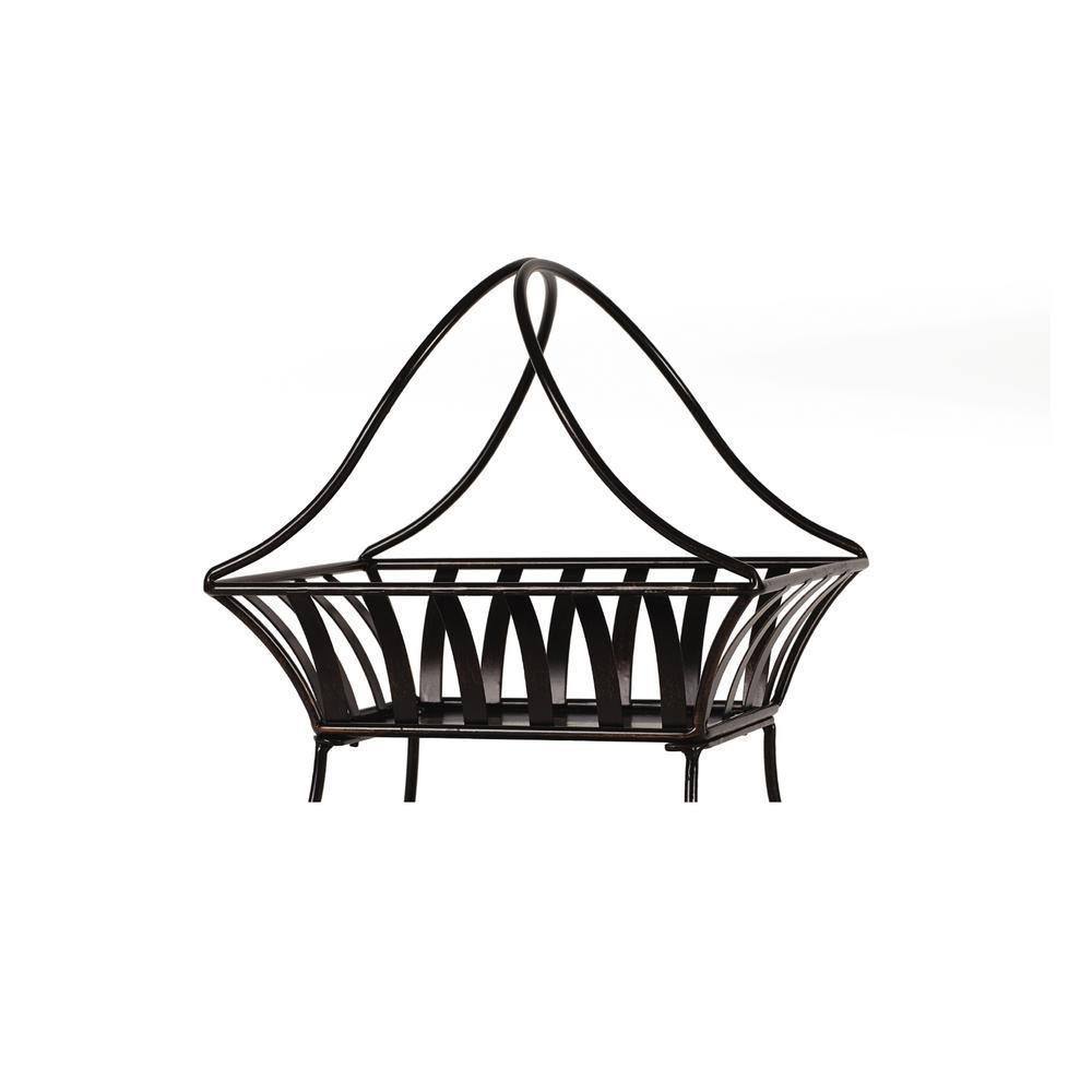 2-Tier Basket in Antique Black