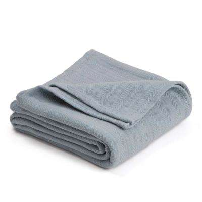 Woven Highrise Gray Cotton King Blanket