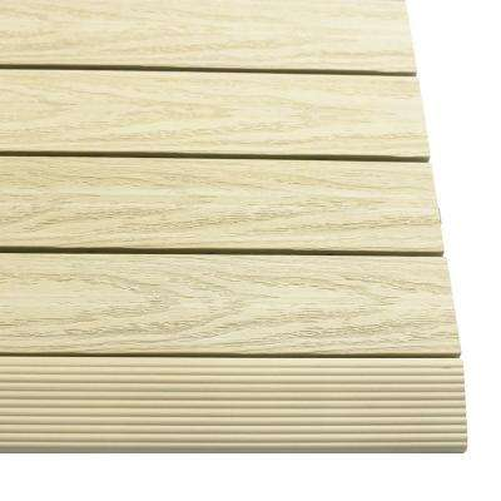 1/6 ft. x 1 ft. Quick Deck Composite Deck Tile Straight Trim in Sahara Sand (4-Pieces/box)