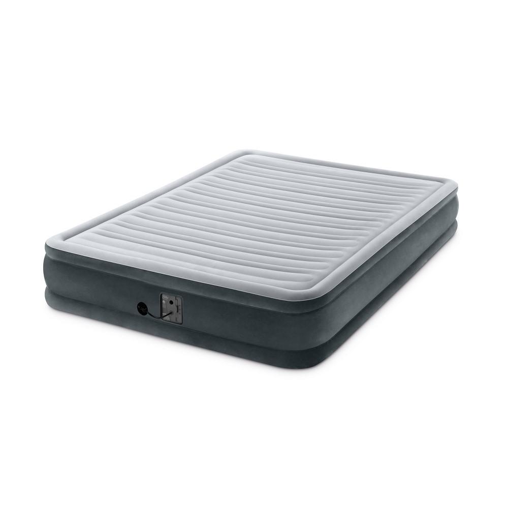 Dura Beam Plus Series Queen Mid Rise Air Bed Mattress with Built-in Pump