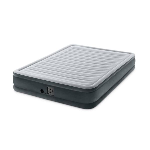 Dura Beam Plus Series Queen Mid Rise Air Bed Mattress with Built-in Pump