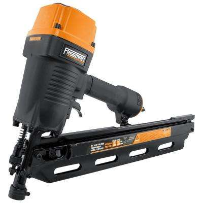 Pneumatic 21-Degree 3-1/2 in. Full Round Head Framing Nailer with Nails (100-Count)