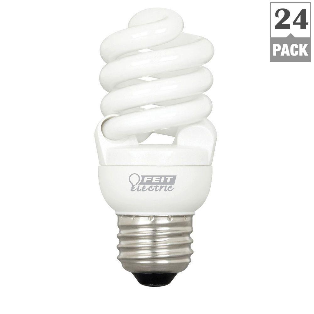 60-Watt Equivalent Soft White T2 Spiral CFL Light Bulb (24-Pack)