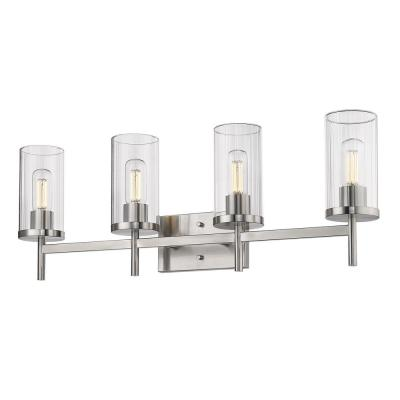 Winslett 8 in. 4-Light Pewter Vanity Light