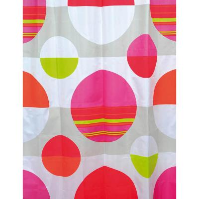 Eclats 71 in. x 79 in. Multicolored Polyester Printed Fabric Shower Curtain Multicolored