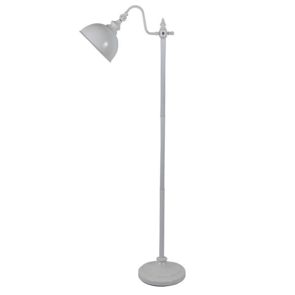 Chloe 56 in. Glossy White Indoor Pharmacy Floor Lamp with White Shade