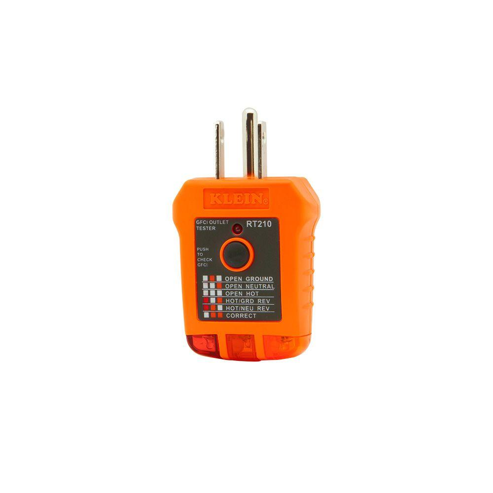 Awe Inspiring Klein Tools Gfci Receptacle Tester Rt210 The Home Depot Wiring Digital Resources Antuskbiperorg