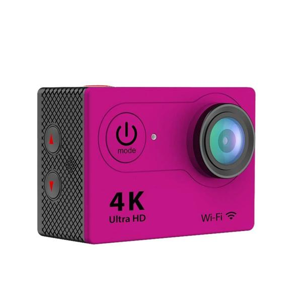 4K Waterproof 12 Mega Pixel Ultra HD Action Camera with Wi-Fi in Hot Pink