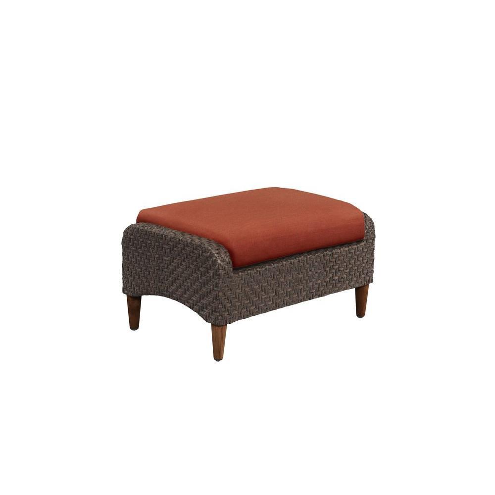 Brown Jordan Marquis Patio Ottoman With Cinnabar Cushion Custom M12110 O 5 The Home Depot