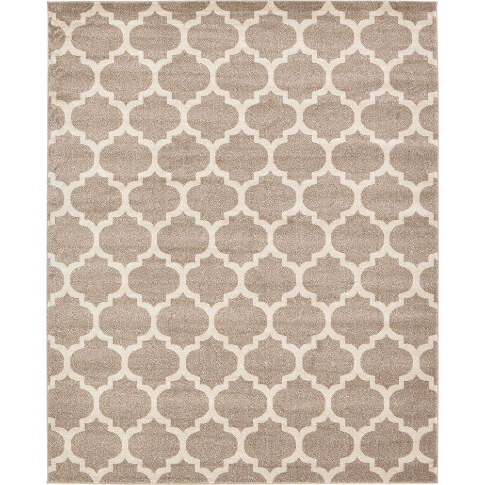 Unique Loom Trellis Tan 8 ft x 10 ft Area Rug The Home Depot
