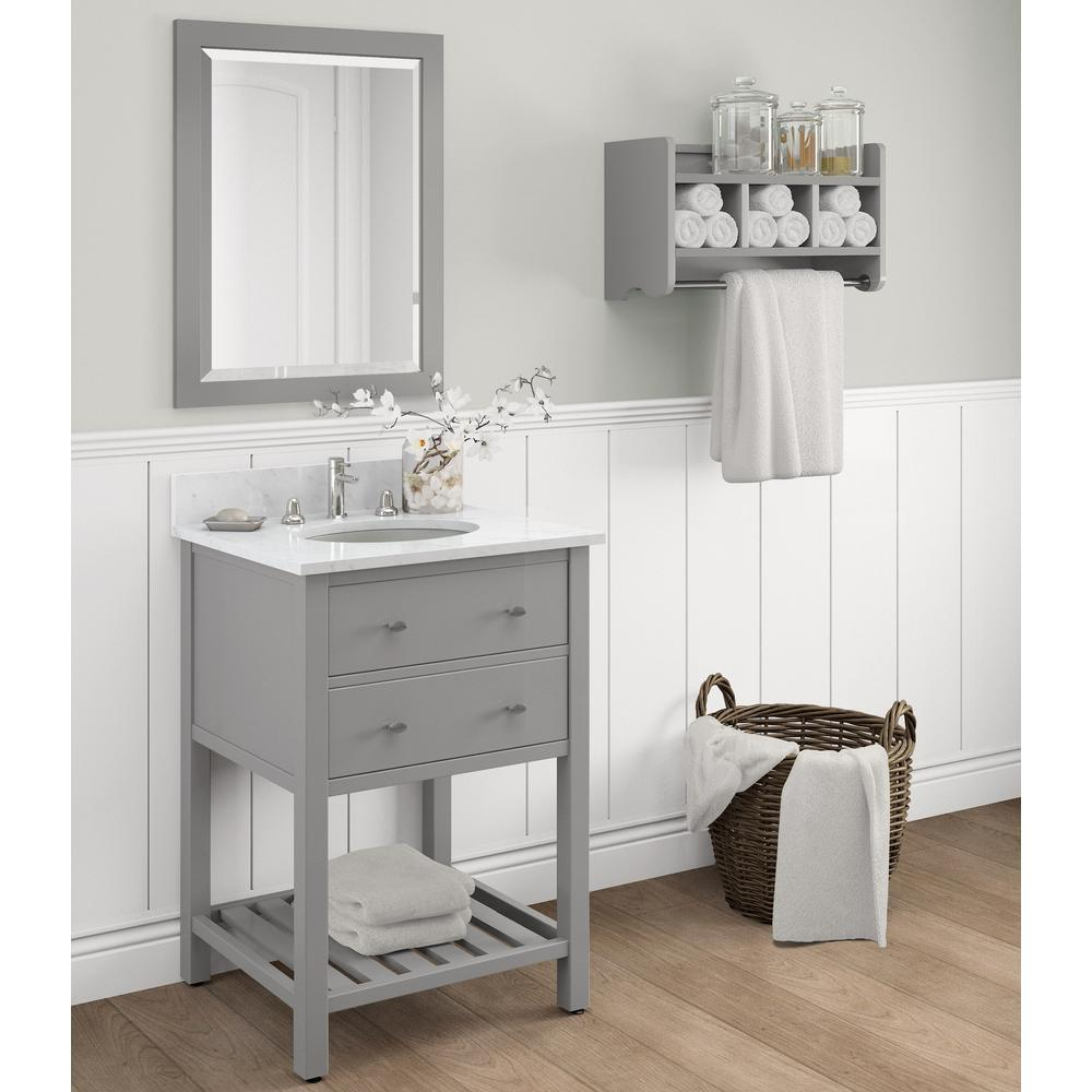 bathroom cabinets shelves alaterre furniture harrison 25 in w x 22 in d vanity in 10420