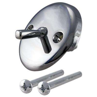 960-041A Waste and Overflow Trip Lever Plate in Polish Chrome