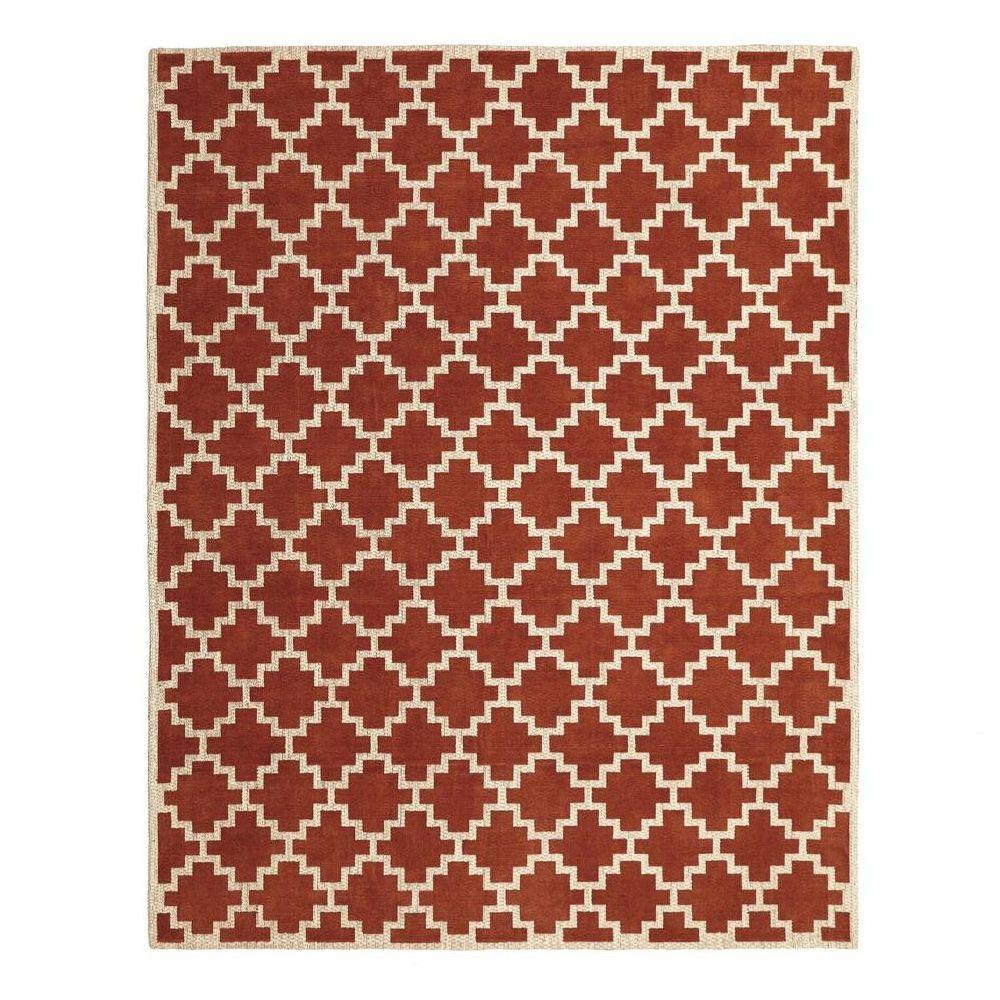 Home Decorators Collection Halifax Rust Ivory 4 Ft X 6 Indoor Area
