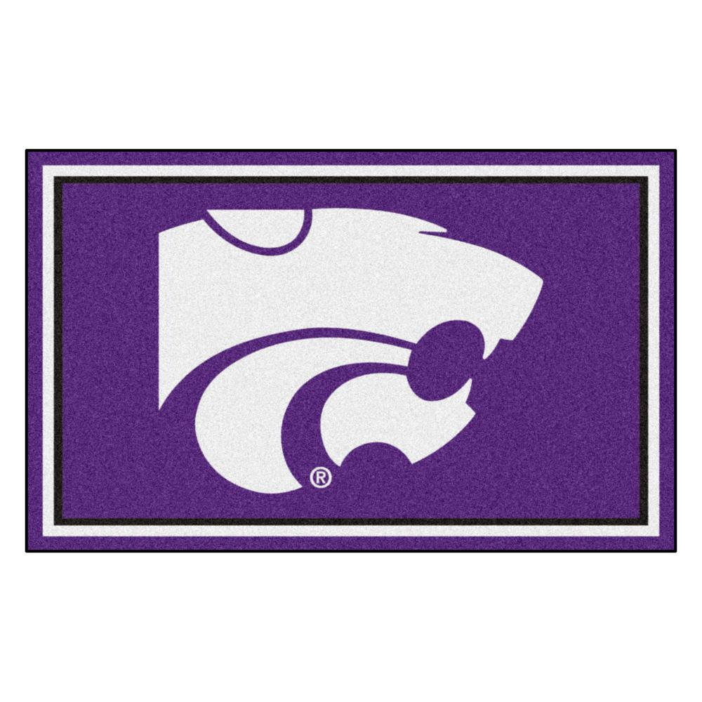 FANMATS NCAA - Kansas State University Purple 4 ft. x 6 ft. Area Rug