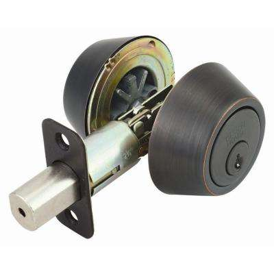 Double Cylinder Oil-Rubbed Bronze Deadbolt