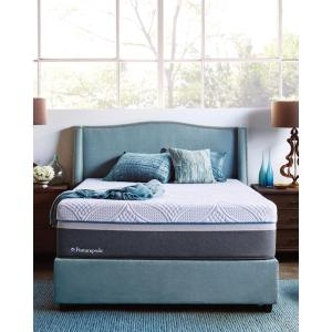 Sealy Hybrid Plush Twin XL Mattress with 5 inch Low Profile Foundation by Sealy