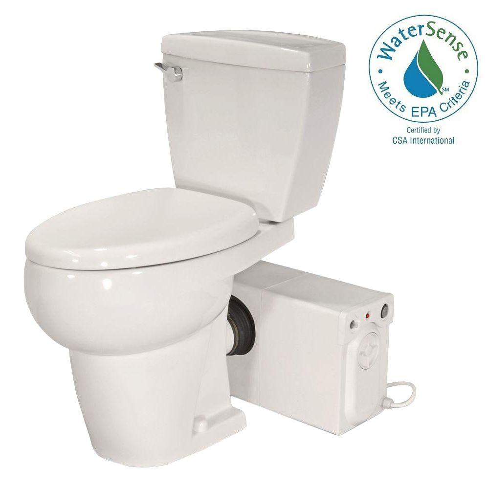 Thetford bathroom anywhere 2 piece gpf single flush elongated toilet with seat macerating for Thetford bathroom anywhere reviews