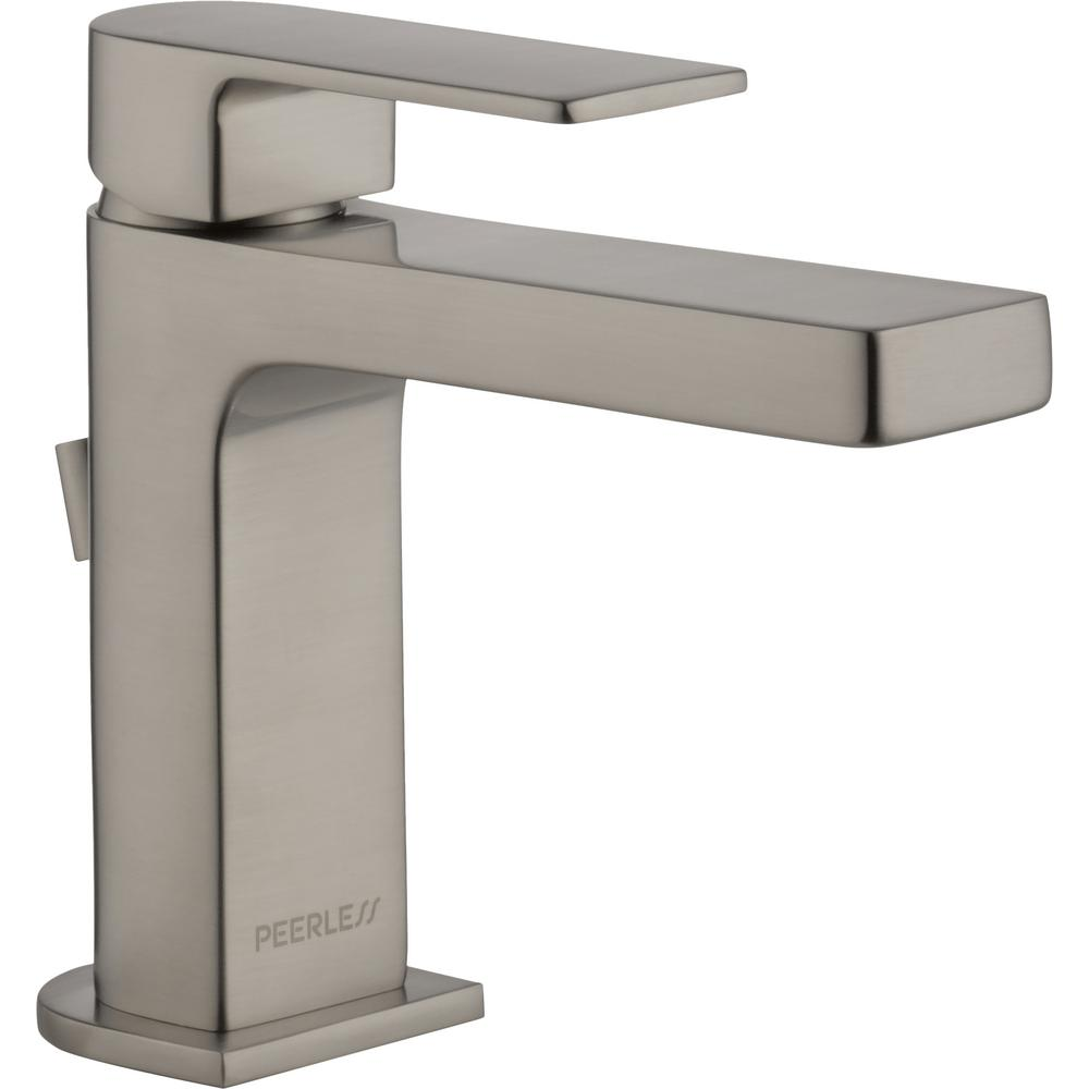 Peerless Xander 4 in. Centerset Single-Handle Bathroom Faucet with Metal Pop-Up Assembly in Brushed Nickel