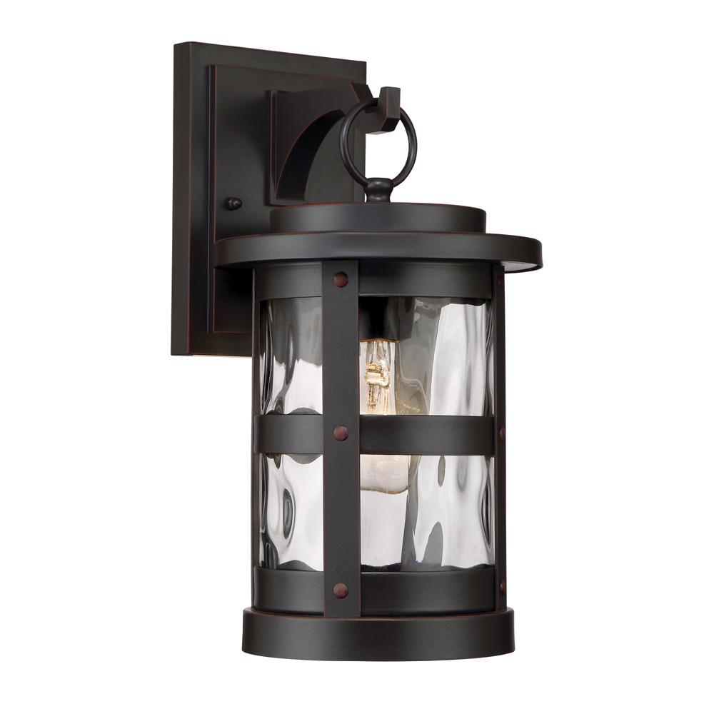 Terraze 1-Light Satin Bronze Outdoor Wall Lantern Sconce