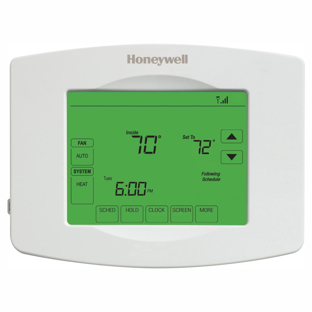 Honeywell Honeywell Wi-Fi Programmable Touchscreen Thermostat + Free App, White