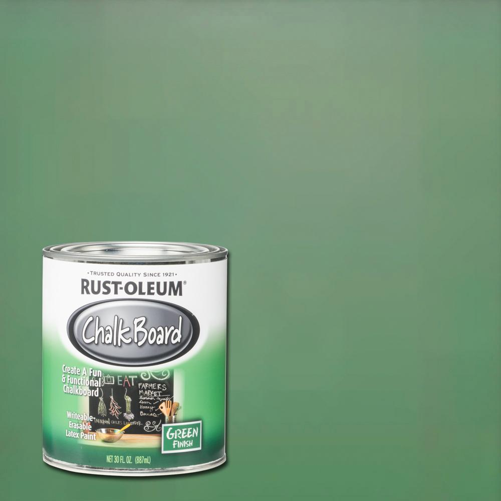 Top Rust-Oleum Specialty 30 oz. Green Flat Chalkboard Paint-206438  XO46