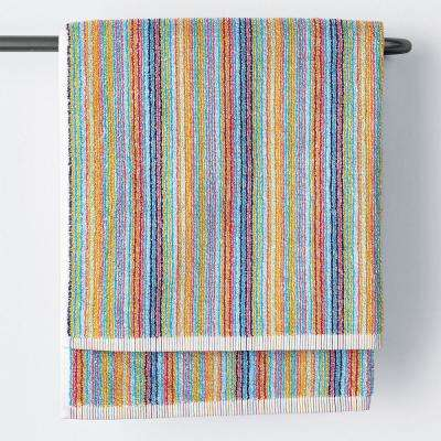Stripe Cotton Single Bath Towel in Multi Color