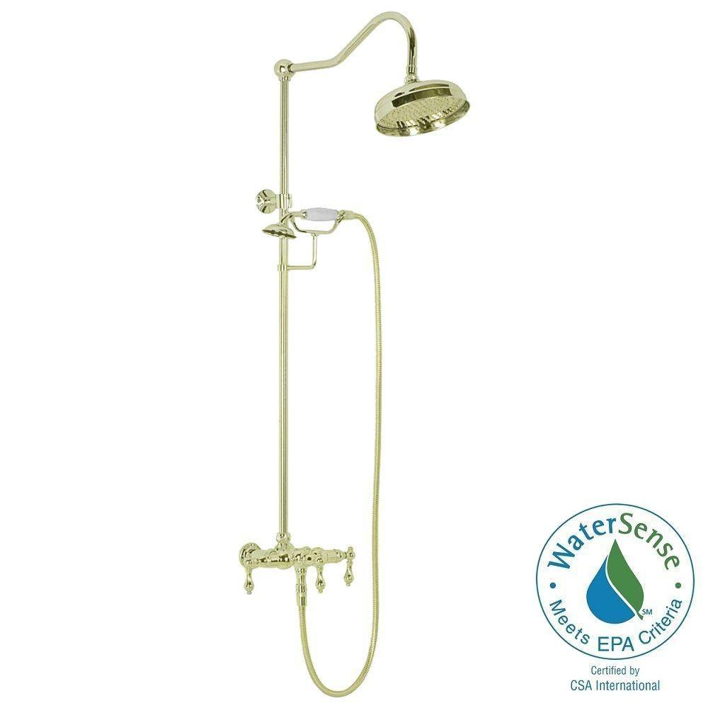 Elizabethan Classics ETS10 Wall-Mount Exposed Hand Shower Combo ...