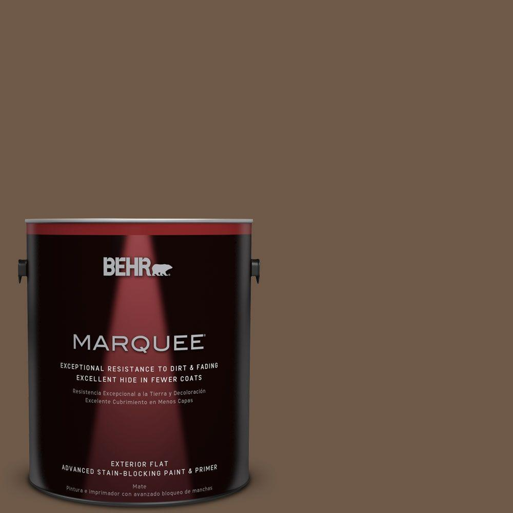 BEHR MARQUEE 1-gal. #N230-7 Rustic Tobacco Flat Exterior Paint