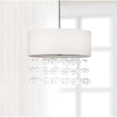 Debutante 3-Light Chrome Pendant