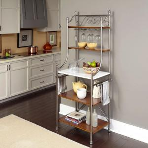 Deals on Homestyles The Orleans Vintage Caramel Baker's Rack