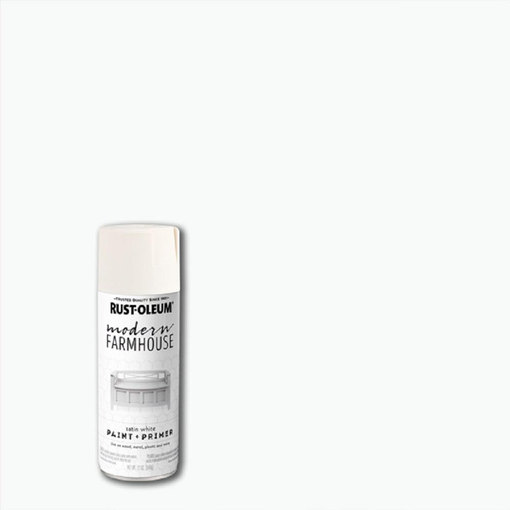Rust-Oleum Modern Farmhouse 12 oz. Satin White Spray Paint