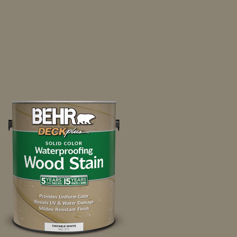 BEHR DECKplus 1 gal. #SC-154 Chatham Fog Solid Color Waterproofing Wood Stain