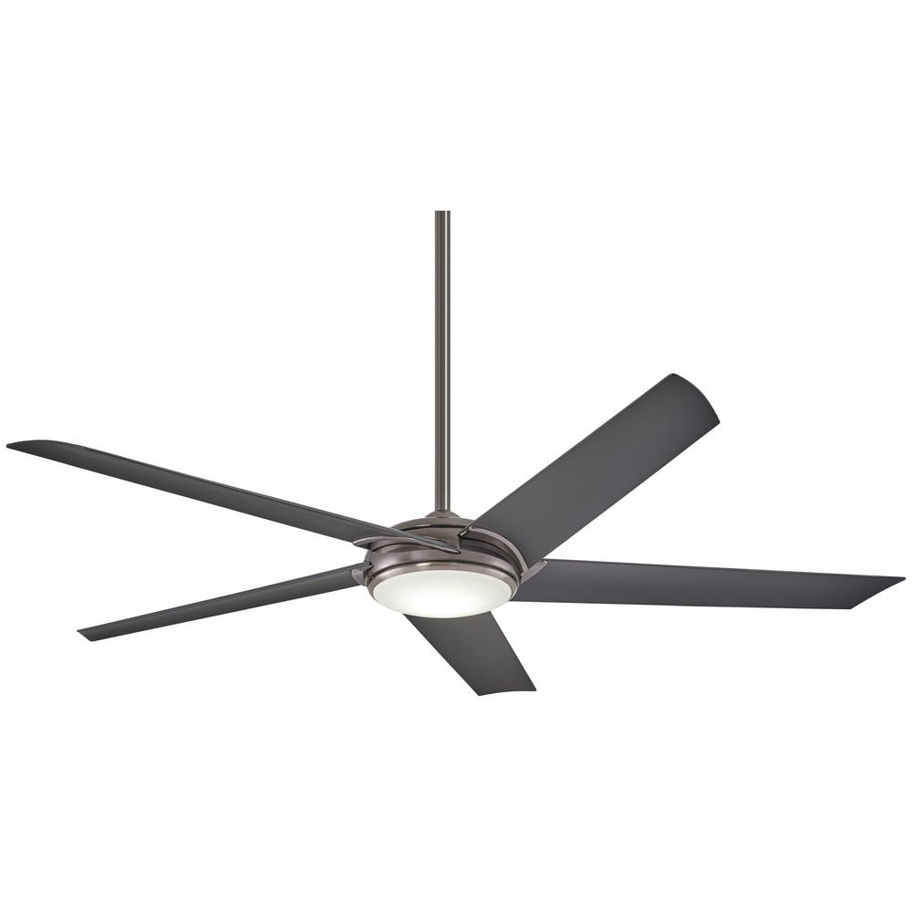 Minka-Aire Raptor 60 in. Integrated LED Indoor Gun Metal Ceiling Fan with Light with Remote Control