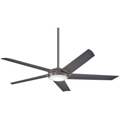 Raptor 60 in. Integrated LED Indoor Gun Metal Ceiling Fan with Light with Remote Control