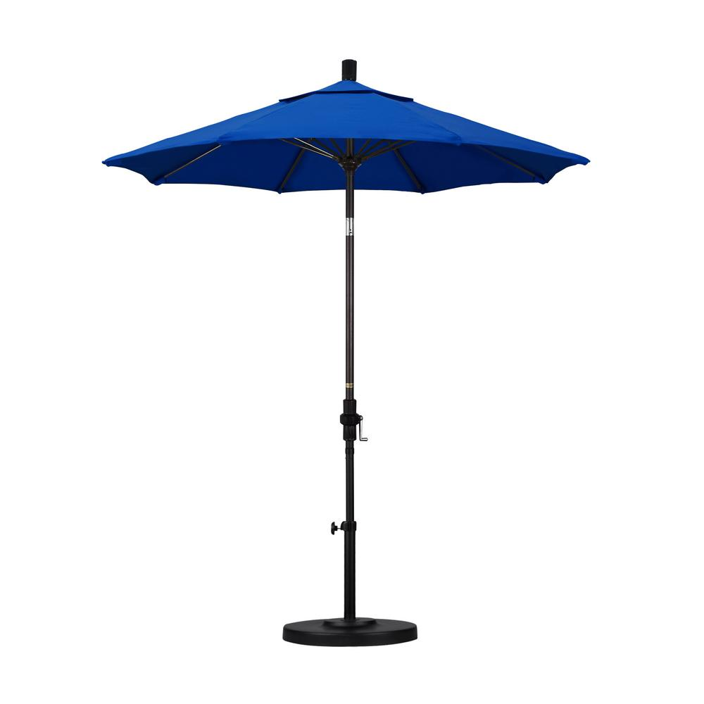 California Umbrella 7-1/2 ft. Fiberglass Collar Tilt Double Vented Patio Umbrella in Pacific Blue Pacifica