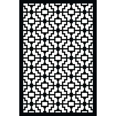 1/4 in. x 32 in. x 4 ft. Black Fret Vinyl Decor Panel