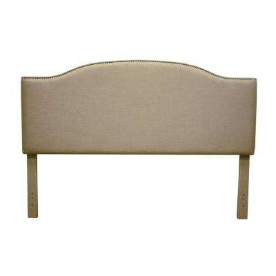 Fairfax Beige King Linen Headboard