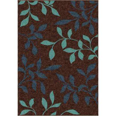 Dazzling Brown 5 ft. x 8 ft. Indoor Area Rug