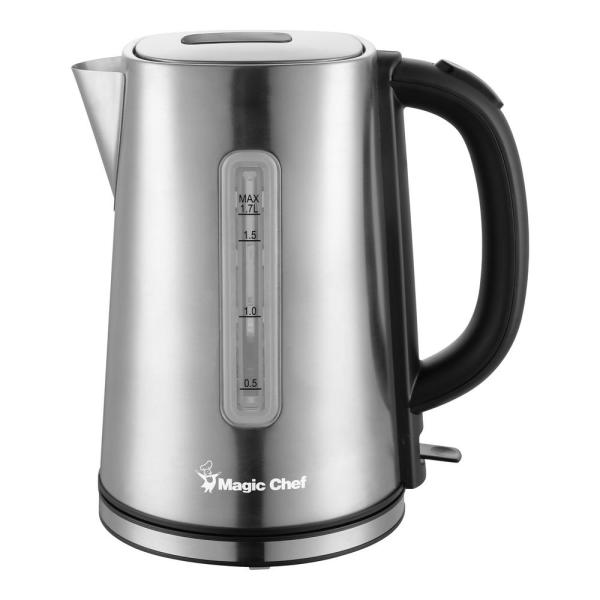 7-Cup Stainless Steel Electric Kettle with Cord Storage