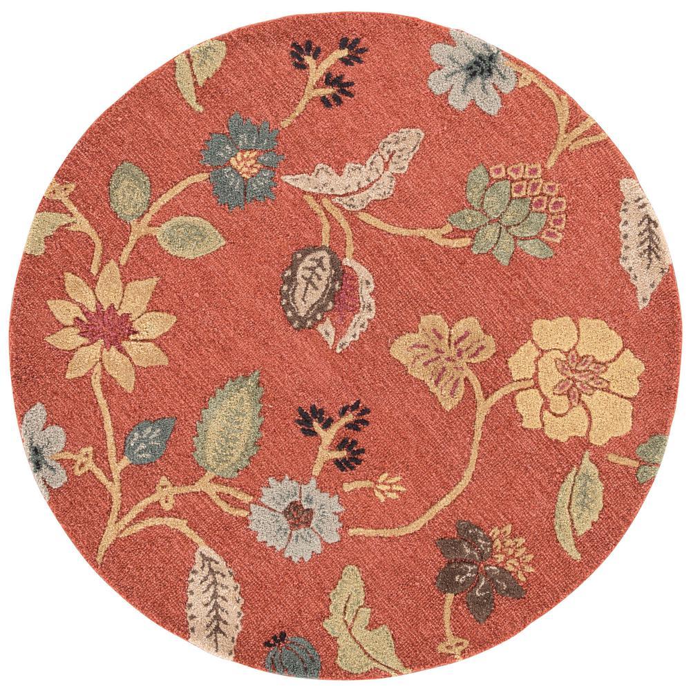 Kitchen Garden Jaipur: Jaipur Rugs Copper Brown 6 Ft. X 6 Ft. Floral Round Area