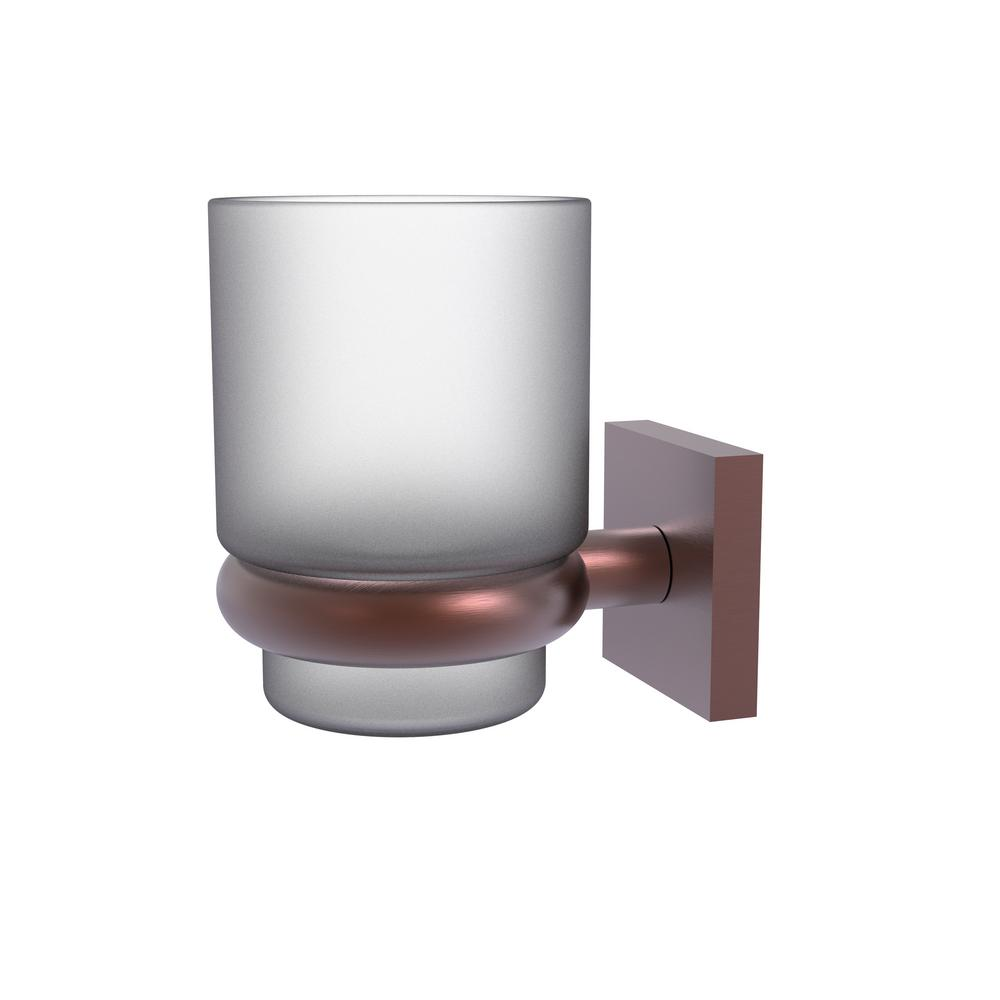 Allied Brass Montero Collection Wall Mounted Tumbler Holder in Antique Copper
