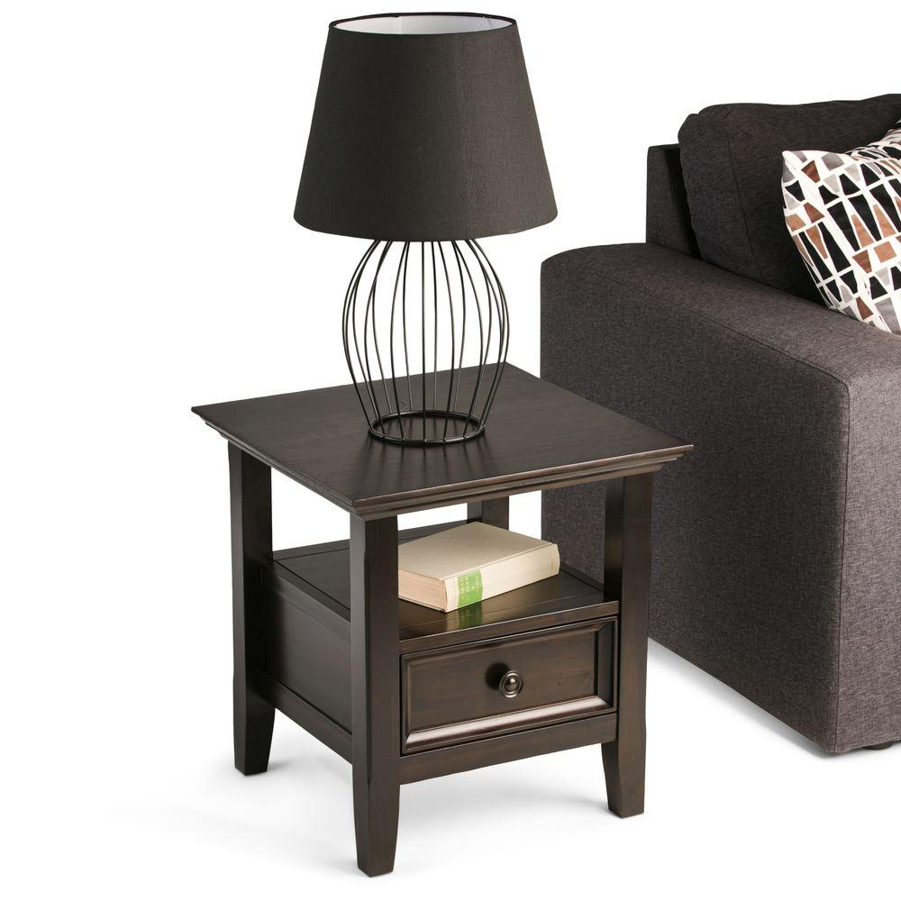 Bon Simpli Home Amherst Dark Brown Storage End Table