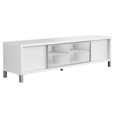 71 in. White Wood TV Stand with 1 Drawer Fits TVs Up to 71 in. with Doors