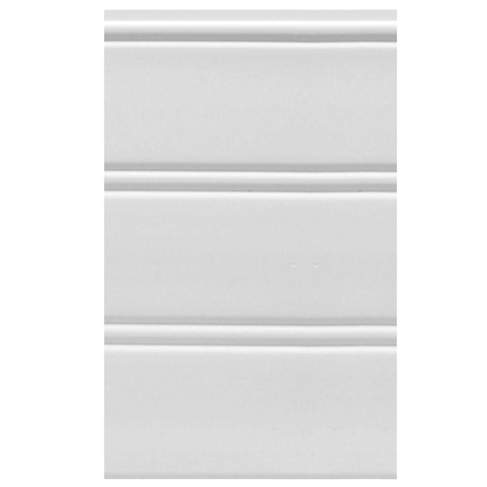 House of Fara (9 sq. ft. package) White Vinyl Reversible Interior/Exterior Wainscot Panel Set