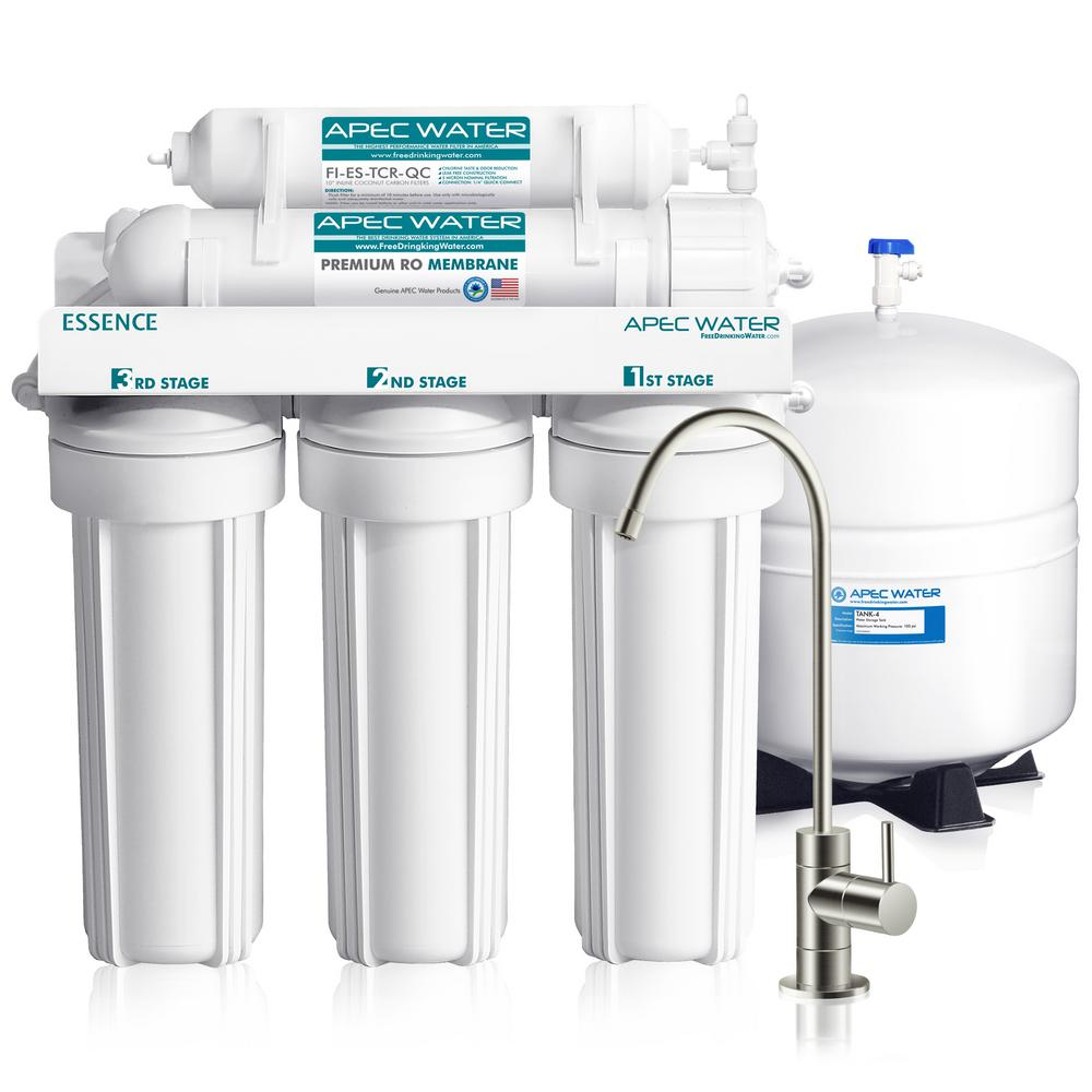bf8e793068b APEC Water Systems Essence Premium Quality 5-Stage Under-Sink Reverse  Osmosis Drinking Water Filter System