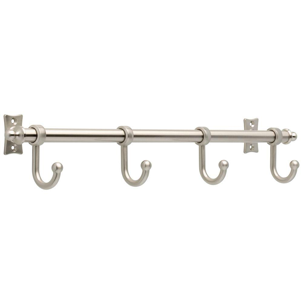 Satin Nickel Hook Rack