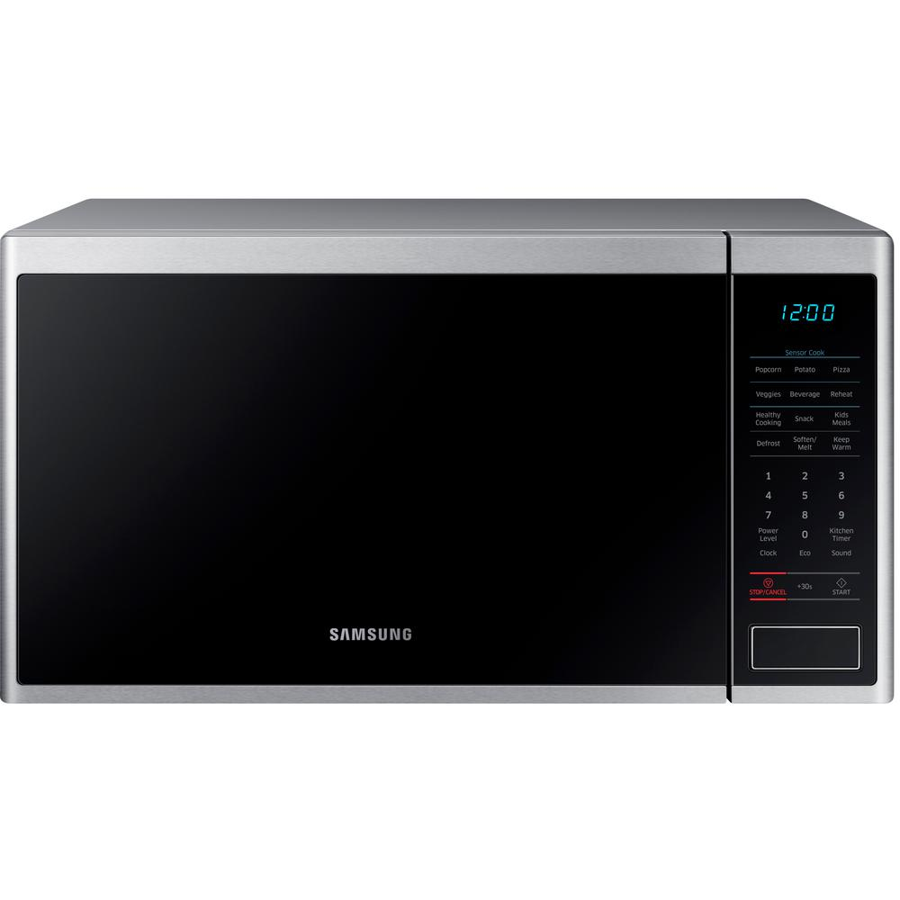 Samsung 1.4 cu. ft. Countertop Microwave with Sensor Cook in Stainless Steel