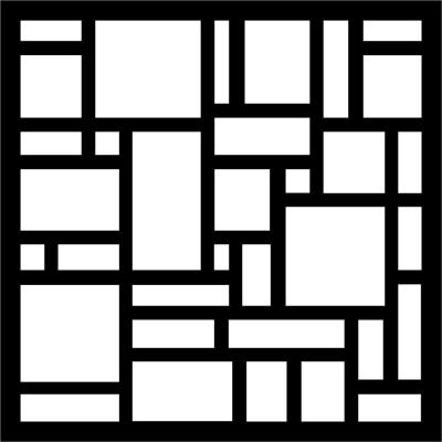 0.3 in. x 22.8 in. x 1.9 ft. Tiles Recycled Plastic Charcoal Wall Art