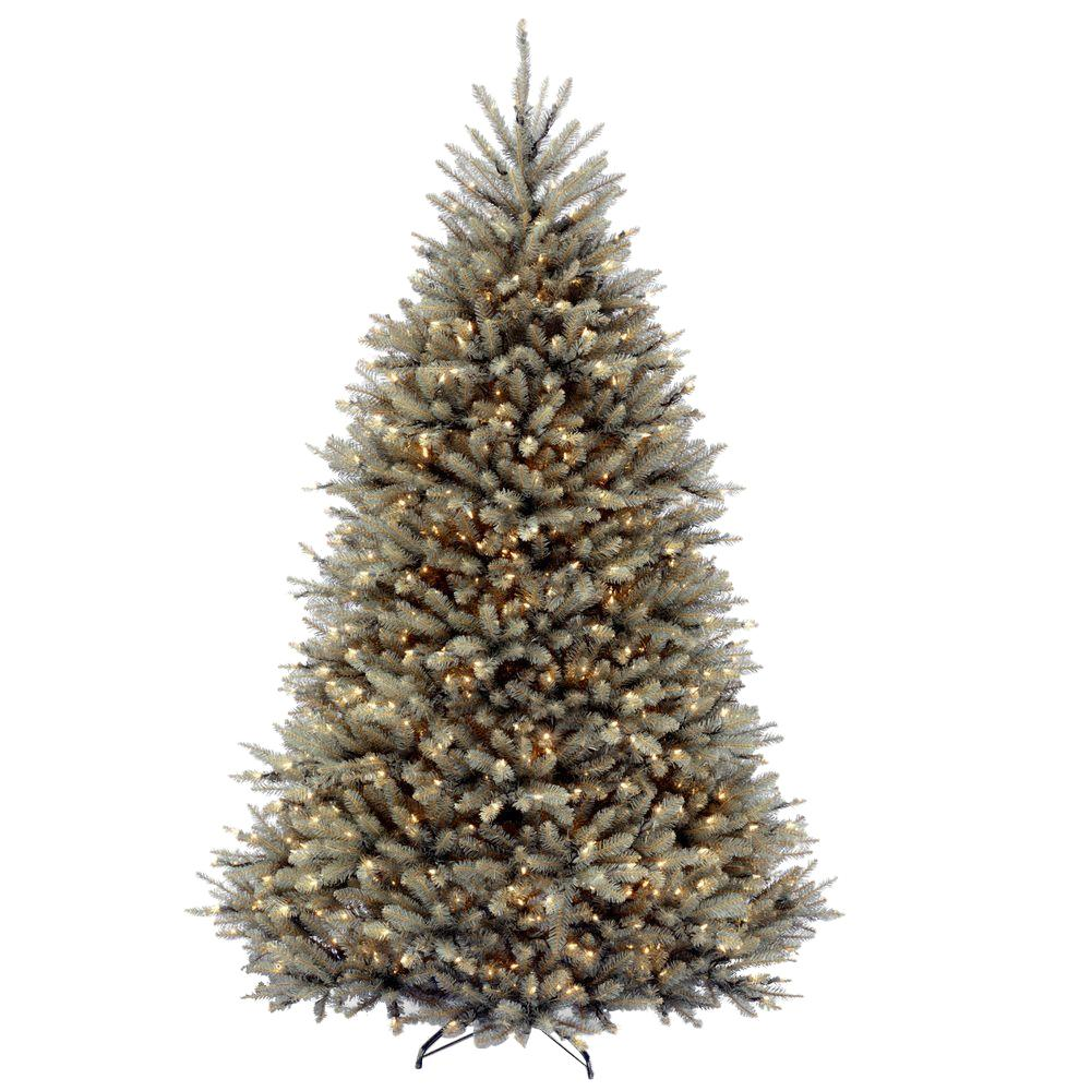 White Christmas Tree With Blue Lights.National Tree Company 7 5 Ft Dunhill Blue Fir Artificial Christmas Tree With Clear Lights
