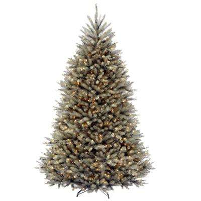 dunhill blue fir artificial christmas tree with clear lights - Blue Spruce Artificial Christmas Tree